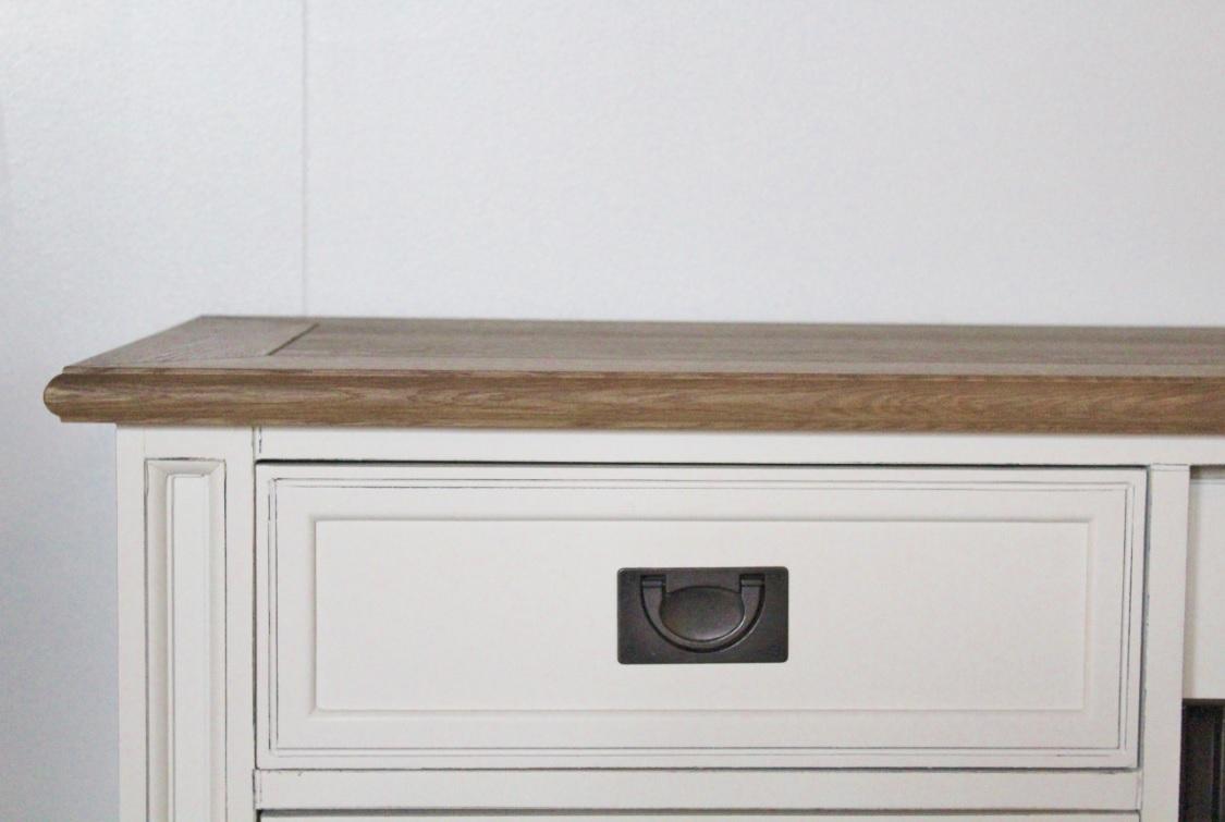 tv kast wit schuifdeur mijnwoonwinkel tv kast wit met eiken bovenblad ...